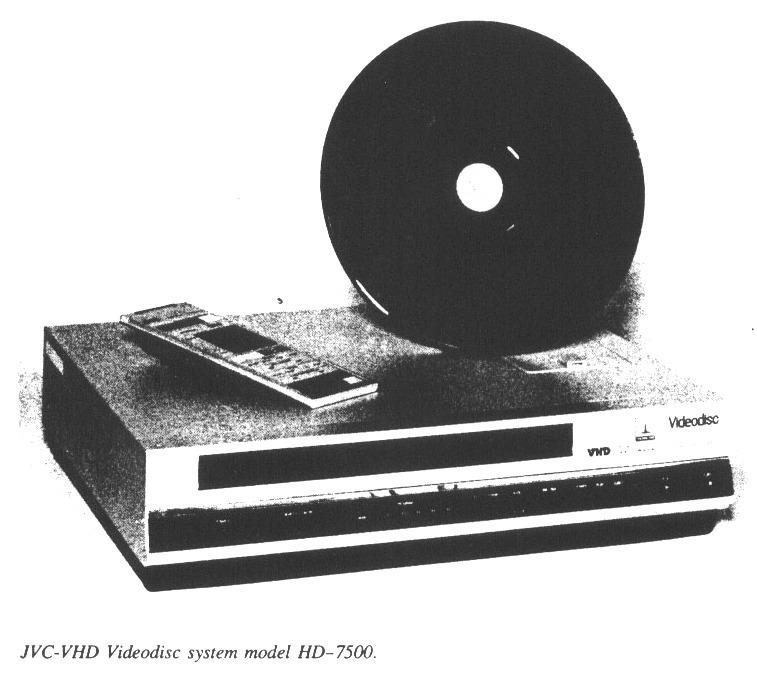 JVC-VHD Videodisc System Model HD-7500